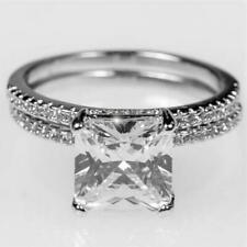 Lexy Princess Solitaire Engagement Wedding Ring Set | 3.5ct |Cubic Zirconia | Si