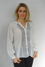 EAST White Cotton Embroidered Kaftan Style Blouse | SALE | Was £69