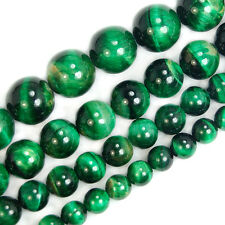 Green Tiger Eye Round Gemstone Beads 6mm 8mm 10mm 12mm pick Size