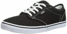 Vans Womens Atwood Low & Mid Tops Lace Up Canvas Skateboarding Shoes, Black/Whi