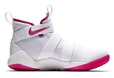 Nike Men's Zoom Lebron Soldier Xi Basketball Shoes (11, White/Pink-M)