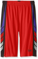 Under Armour Boys' Select Basketball Shorts, Risk Red/Black, Youth Large