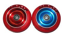 2 X DERAiLED Scooter Wheels, Alloy Metal Core 100 mm + Fitted Abec 9s FREE POST
