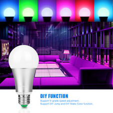 10W E27 RGBW 12-LED Bulb Stage Lamp Home Cafe Light  Remote Control 120 Colors