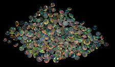ETHIOPIAN OPAL FACETED ROUND CABOCHON  FLASHING FIRE PLAY COLOR GEMSTONE