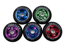 2 x DERAiLED Scooter Wheels Triple Blade Alloy Core 110mm + Fitted Bearings