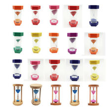 1/2/3/5/10/15/30Mins Hourglass Sand glass Clock Timer Decor Kid Time Educational