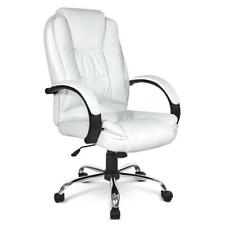 NEW Executive PU Leather Office Computer Chair White