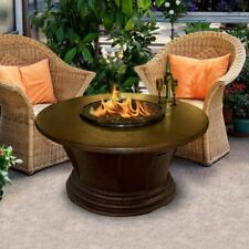 American Fire Products San Simeon Chat Height Round Aluminum Top Gas Fire Pit