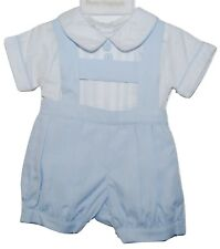 Baby Boys Spanish Sky Blue/White H Bar Set Outfit Pretty Originals