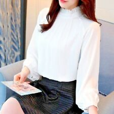 New Spring Women Blouse With Casual Lantern Sleeve Elegant Fashion tops 3 Colors