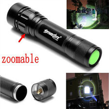 Tactical 15000LM 3 Modes T6 LED Flashlight Torch Lamp Light Fit 18650 Zoomable