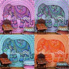 Indian Elephant Wall Hanging Bohemian Hippie Tapestry Ethnic Cotton Throw Decor