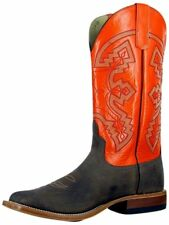 Anderson Bean Western Boots Mens Burnished Kidskin Chocolate S1103