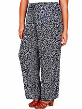 Womens plus size 32 34  trousers wide leg palazzo pants viscose navy SALE !