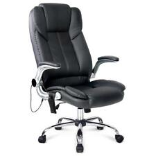 NEW PU Leather 8-point Massage Office Chair Black