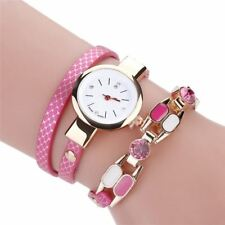 Women Girl Casual Vintage Quartz Round Wristwatch Luxury Fashion Ladies Dress Le