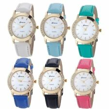Women Luxury Quartz With Leather Strap Ladies Dress Wristwatch With Charm