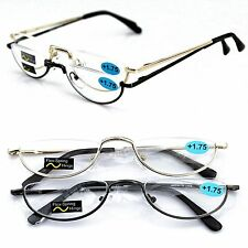 Half moon rim Vintage Spring Hinge Comfortable Eyeglass Frames Reading Glasses