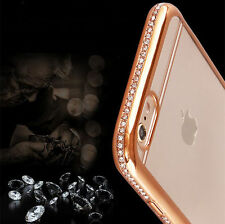 Glittery Diamond Sparkling Bling Hard Bumper Case Cover For iPhone 5 6 Plus