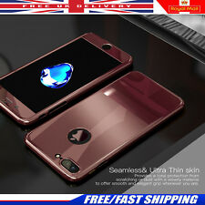 Luxury Full 360° Protection Bling Mirror Metal Plating Case Cover For iPhone