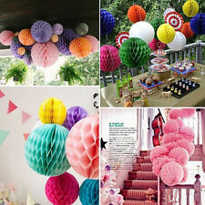 Christmas Garland Party Decorations Paper Lanterns Hanging Honeycomb UK STOCK