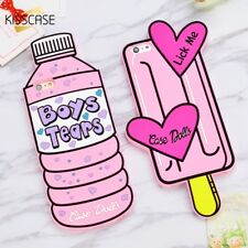 3D Cartoon Case Bottle Love Ice Cream Soft Silicon Phone Case For iPhone 7 6 5
