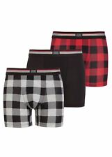 Jockey Cotton Stretch Boxer Trunk 3 Pack - Hawaiian Red