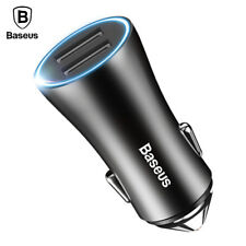 Baseus LED Car Phone Charger For iPhone Samsung Xiaomi Mobile Phone Car Charger