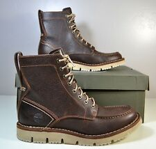NIB MEN TIMBERLAND WESTMORE MT BT MD BROWN LEATHER BOOTS SHOES SZ 8-13 TB0A1J5H