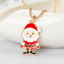EP_ Fashion Christmas Style Santa Claus Charm Pendant Decor Necklace Jewelry Bra