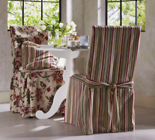 New Harmony Dinning or Wingback Chair Slipcover FURNITURE COVER Rose Stripe 1 Pc