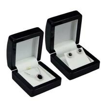 High Quality Wooden Pendant or Earring Jewellery Display Gift Box in Blk or Mhg
