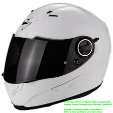 Scorpion exo-490 Solid Motorcycle Full Face Helmet Touring - White