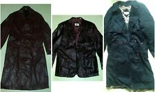 Brettons Essential Black Trench Coat | Genuine Leather Jacket & Trench Maroon 44