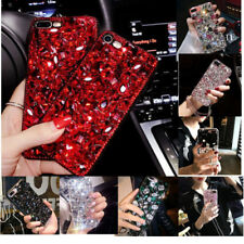 Bling 3D Crystal Diamond Rhinestone Jewelled Hard Case Cover For iPhone Samsung