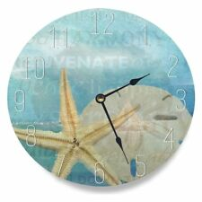 The Stupell Home Decor Collection 12 in. Beach Starfish Light Blue Typography
