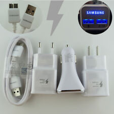 New LED Fast Dual Car/Wall Charger 3.0 USB Cable For Samsung Galaxy Note3 S5