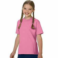 Hanes Authentic Tagless Kids' Cotton T-Shirt, Pink