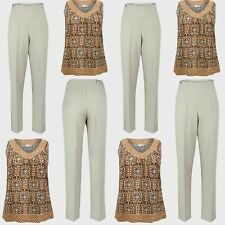 Ladies Summer Trousers Size 14 16 18 20 Woman Sleeveless Top Smart 2PC Outfit