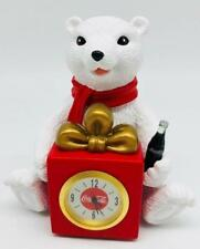 Coca-Cola Mini Clock Polar Bear Ornament