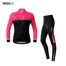 Women Cycling Jersey Pants Breathable Long Sleeve Bike Bicycle Padded Tights Top