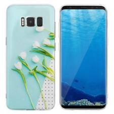 Case Cover For Samsung Galaxy S6 S7 Edge S8 S9 Plus White Roses Flowering Plant