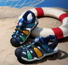 New Summer Leather Closed Toe Sandals Beach Sports Shoes Kids Boys Toddler