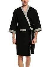 HOTOUCH Men's Waffle Kimono Robes Spa Bathrobe Terry Cloth Robe M-XL