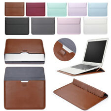 "Leather Envelope Laptop Sleeve Bag Stand Case For Macbook Air Retina Pro 11""-15"""