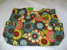 Vera-Bradley NWT Pleated Tote Shoulder Bag Flower Shower Vines 98, Loves Me 94