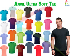 Anvil New Adult Fashion Basic Tee Mens Ultra Soft Jersey Cotton Cool T-Shirt TOP