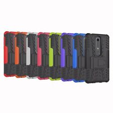 Hybrid Armor Shockproof Rugged Rubber Kickstand Hard Case Cover for Nokia 6 2018
