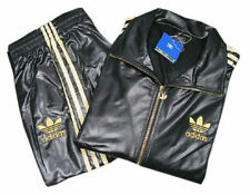 %ADIDAS CHILE 62 BLACK GOLD SPORT FULL TOP TRACK SUIT TOP JACKET M L XL
